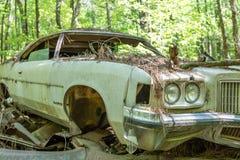 Vecchio Pontiac demolito il Bonneville Fotografia Stock Libera da Diritti