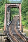 Vecchio ponticello della ferrovia Fotografia Stock