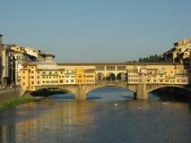 Vecchio ponticello di Firenze Fotografie Stock Libere da Diritti