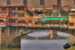 Vecchio ponticello di Firenze Immagine Stock Libera da Diritti