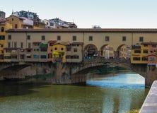 Vecchio ponticello di Firenze Immagine Stock