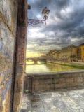 Vecchio ponticello di Firenze Fotografie Stock
