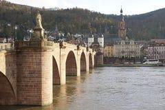 Vecchio ponticello di Heidelberg Fotografia Stock Libera da Diritti