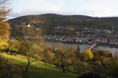 Vecchio ponticello di Heidelberg Fotografia Stock