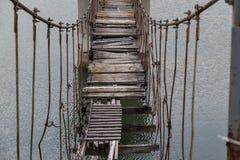 Vecchio ponticello di legno Fotografie Stock Libere da Diritti