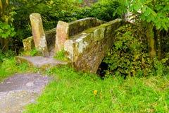 Vecchio ponticello di pietra Immagine Stock