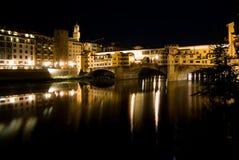 Vecchio ponticello a Firenze immagine stock