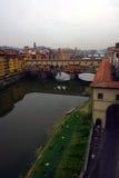 Vecchio ponticello a Firenze, Italia. Fotografie Stock Libere da Diritti