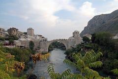 Vecchio ponticello a Mostar Immagini Stock Libere da Diritti