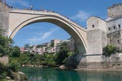 Vecchio ponticello a Mostar Fotografie Stock Libere da Diritti