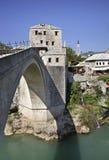 Vecchio ponticello a Mostar La Bosnia-Erzegovina Immagini Stock