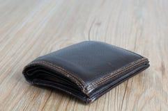 Vecchio portafoglio immagine stock