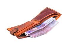 Vecchio portafoglio utilizzato fotografia stock