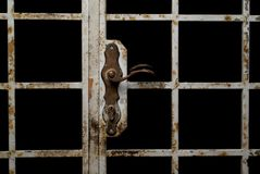 Vecchio portello arrugginito Immagine Stock Libera da Diritti