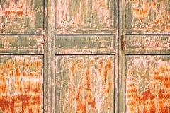 Vecchio portello arrugginito Immagini Stock Libere da Diritti