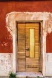 Vecchio portello arrugginito Fotografia Stock