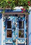 Vecchio portello blu Immagini Stock Libere da Diritti