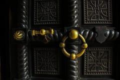 Vecchio portello del metallo fotografia stock