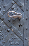 Vecchio portello del metallo con la maniglia Immagine Stock Libera da Diritti