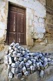 Vecchio portello della casa Fotografia Stock