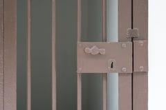 Vecchio portello della prigione Fotografia Stock Libera da Diritti