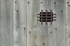 Vecchio portello di legno Fotografie Stock Libere da Diritti
