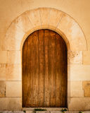 Vecchio portello di legno Fotografia Stock