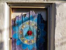 Vecchio portello di legno Fotografia Stock Libera da Diritti