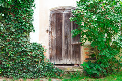 Vecchio portello di legno Immagini Stock Libere da Diritti