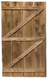 Vecchio portello di legno isolato Fotografie Stock