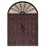 Vecchio portello di legno marrone Fotografie Stock