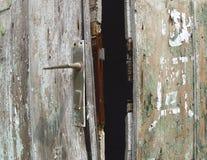 Vecchio portello, maniglia Fotografia Stock Libera da Diritti