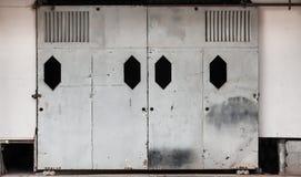 Vecchio portello scorrevole Fotografia Stock Libera da Diritti