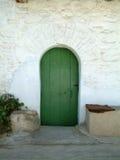 Vecchio portello verde Immagine Stock
