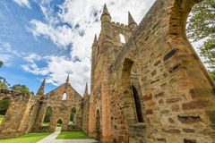 Vecchio porto Arthur Tasmania della chiesa del condannato Fotografia Stock Libera da Diritti