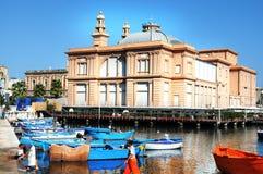 Vecchio porto a Bari Fotografia Stock Libera da Diritti