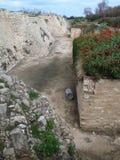 Vecchio porto a Cesarea Immagini Stock