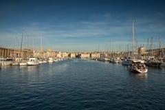 vecchio porto, città di Marsiglia, francese fotografia stock libera da diritti