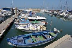 Vecchio porto della città di Giaffa in telefono Aviv Jaffa - Israele Immagini Stock