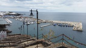Vecchio porto della città di Puerto del Carmen Immagine Stock