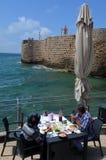 Vecchio porto della città di San Giovanni d'Acri Akko - Israele immagini stock