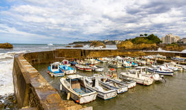 Vecchio porto di Biarritz - la Francia Fotografia Stock Libera da Diritti