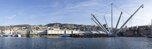 Vecchio porto di Genova Immagini Stock