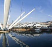 Vecchio porto di Genova Immagine Stock Libera da Diritti
