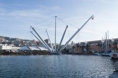 Vecchio porto di Genova Fotografia Stock