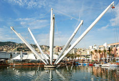 Vecchio porto di Genova Fotografia Stock Libera da Diritti