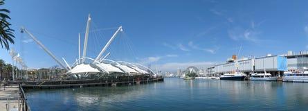 Vecchio porto di Genova immagini stock libere da diritti