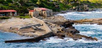 Vecchio porto di Hermanus immagini stock libere da diritti