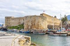 Vecchio porto di Kyrenia Girne, Cipro del Nord Immagini Stock Libere da Diritti