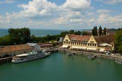 Vecchio porto di Lindeau Bodensee Germania Fotografia Stock